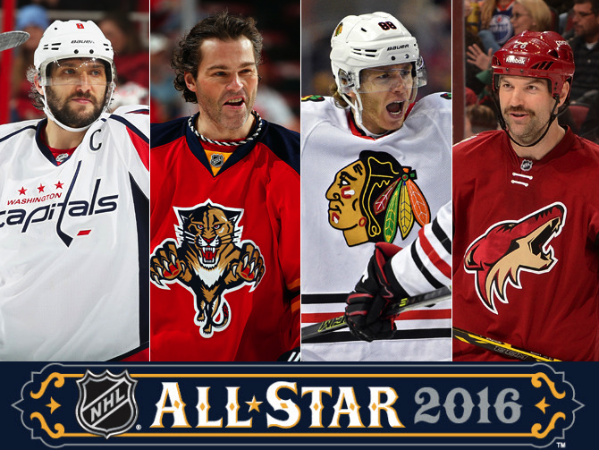 Ovechkin, Jagr, Kane, and Scott