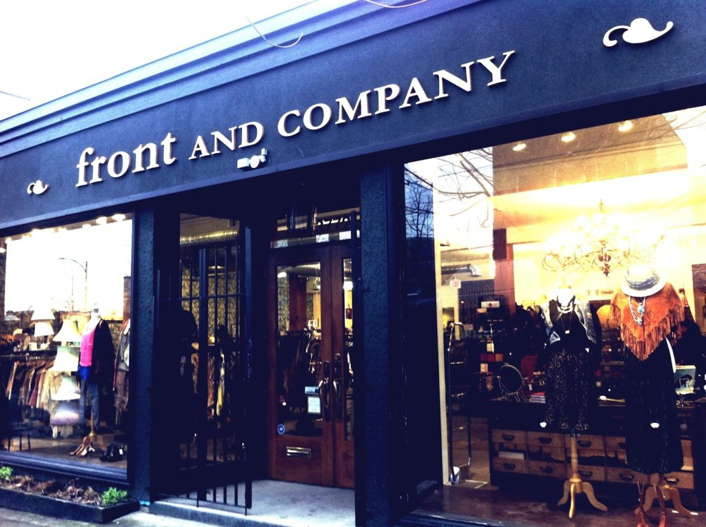 Front and Company Vancouver consignment best shopping fashion