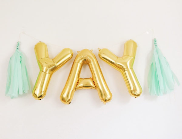 Yay gold foil balloons