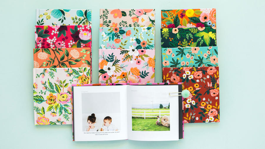 The Keay California blog Chatbooks Rifle Paper Co series floral photo books